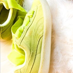 Puma lime Green shoes 💚